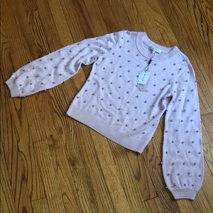{milly} NWT pearl sweater